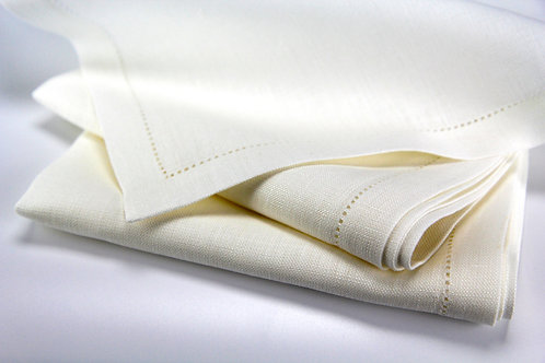 Hemstitched and Mitred Edge Linen Placemat