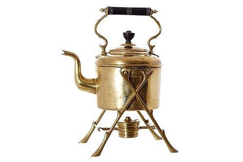 Antique Brass Tea Kettle