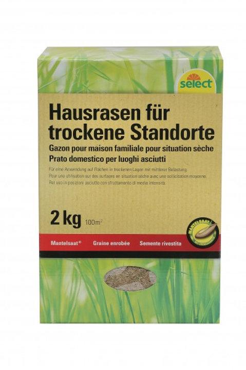 Mantelsaat Hausrasen für trockene Standorte, 2 kg
