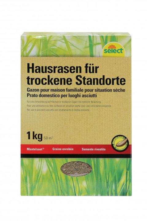 Mantelsaat Hausrasen für trockene Standorte, 1 kg