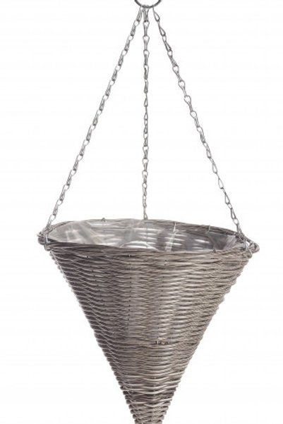 Hängeampel  Vase 'Rattan Effect'