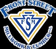 front street millwork logo white outline