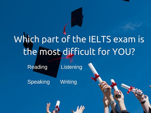 Which part of the IELTS exam is most difficult for YOU?