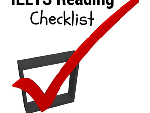 IELTS READING CHECKLIST for self study