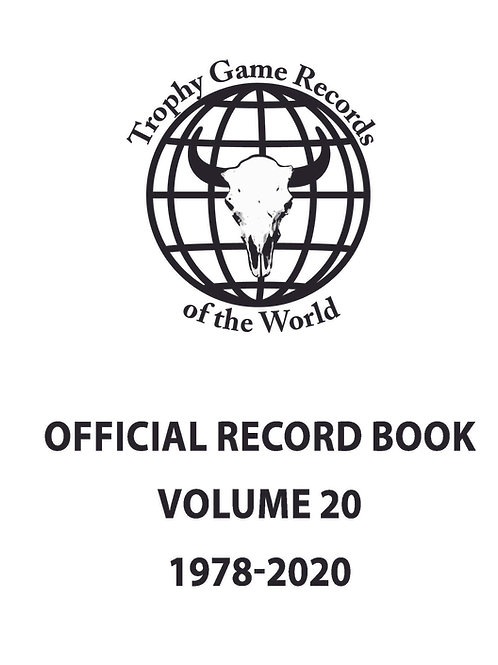Offical Record Book Volume 20 Inserts Only