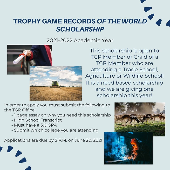 Trophy Game Records of the World Scholar