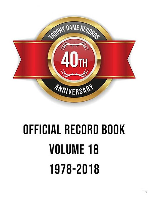 Official Record Book Vol. 18 INSERT ONLY