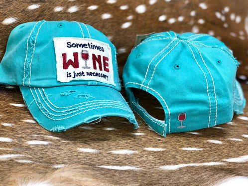 """Sometimes Wine"" Cap"