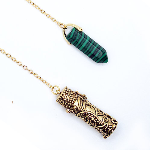 Malachite ●  Abundance Necklace