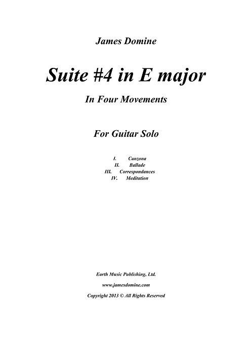 Suite #4 in E major for guitar solo