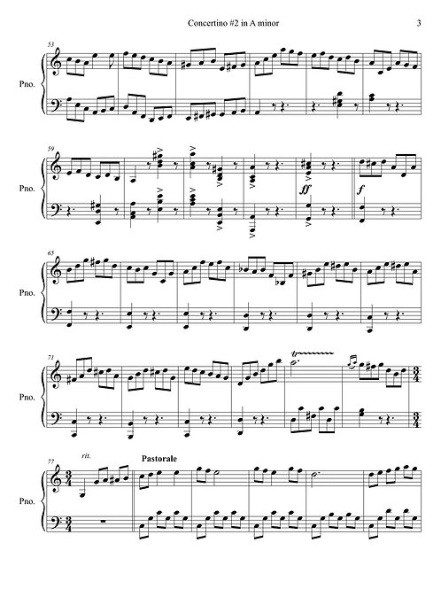 Piano solo – Rondo in A minor