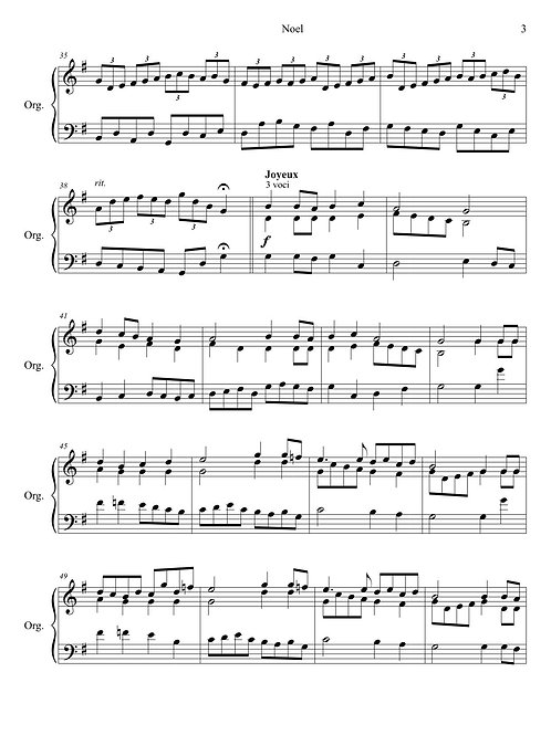 Piano solo – Noel: Variations