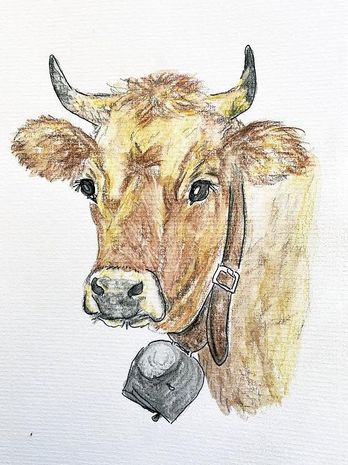 Carte Vache Brune