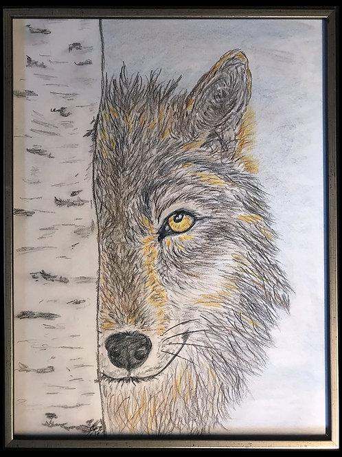 Tableau Pastelmat Loup