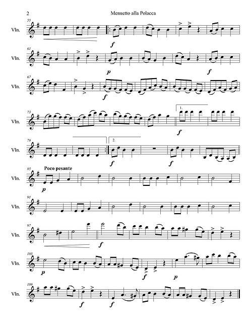 Duetto: Menuetto alla Polacca for Violin Guitar