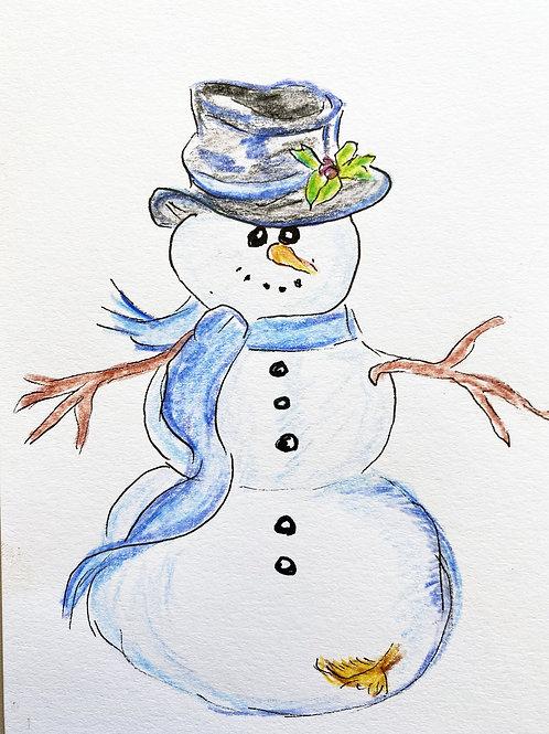 Carte - bonhomme de neige