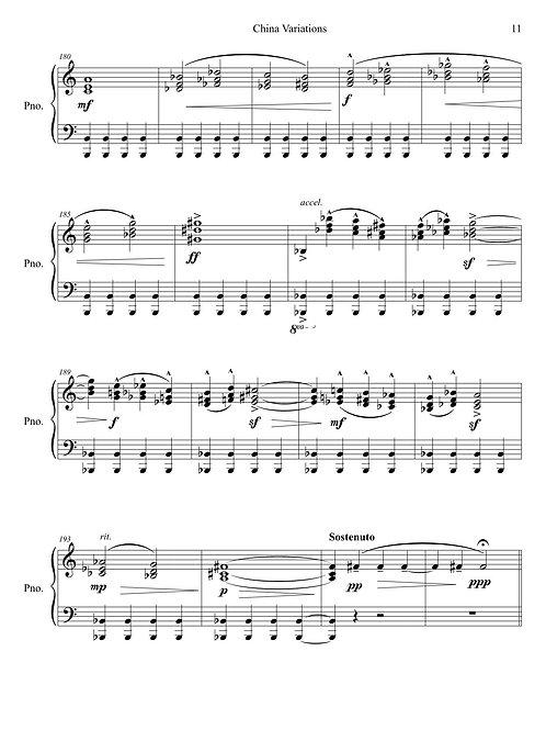 Piano solo – China Variations: Viral Replications