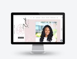 Enide Black Website Design