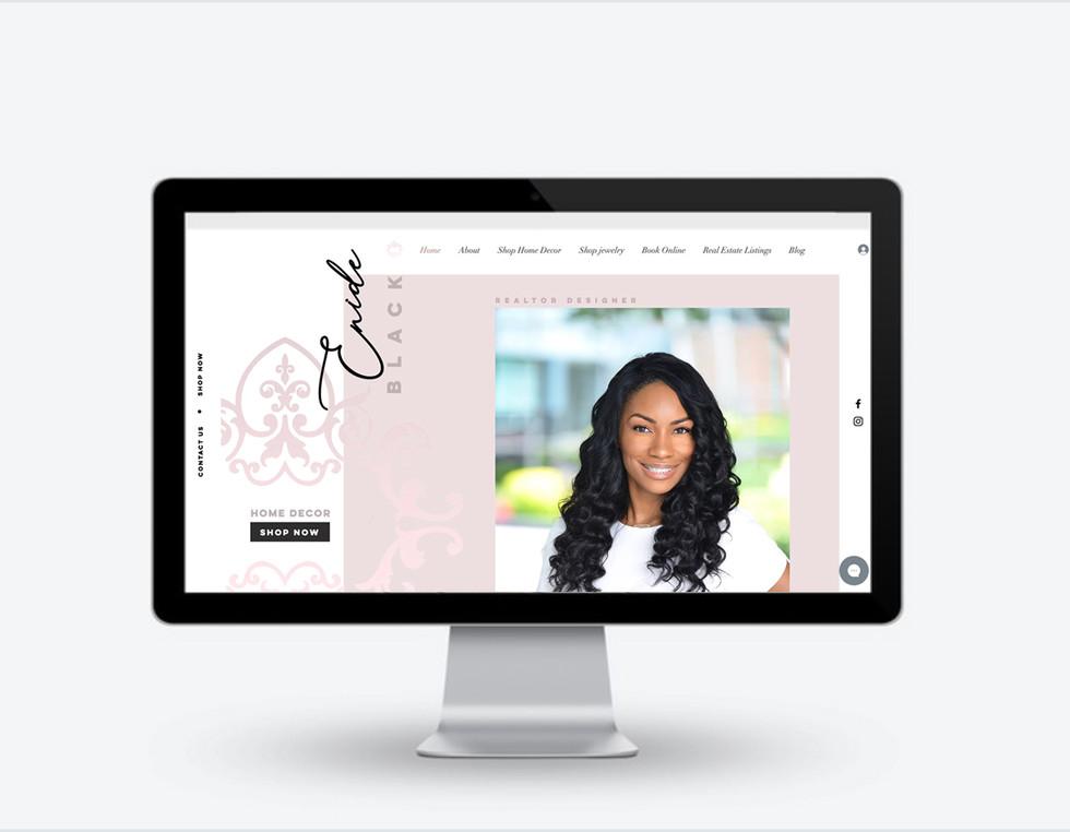 Enide Black Websire Design