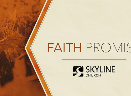 """Faith Promise: Week 1"" Message & Notes"