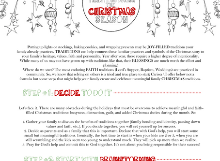 5 Steps to Create Meaningful Traditions