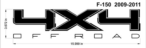 Ford F150 4x4 OFFROAD Decal