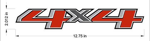 Silverado 4x4 Decal 2014-2019
