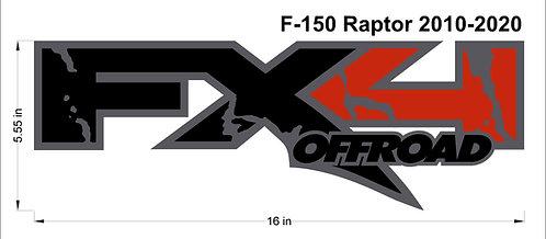 Ford Raptor F150 4x4 Decal