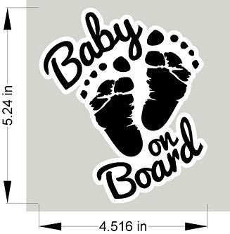 Baby on Board decal - feet