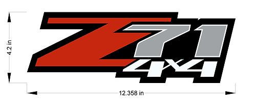 Chevy Silverado Z71 4x4 decals