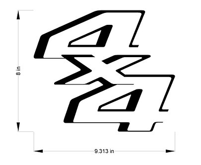 2011-2014 Ford Superduty 4x4 decals
