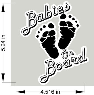 Babies on Board decal - feet