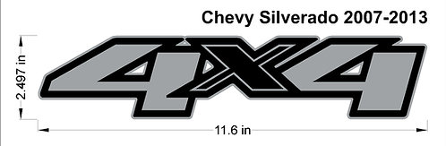 Chevy GMC Silverado 4x4 Decal 2017-2013