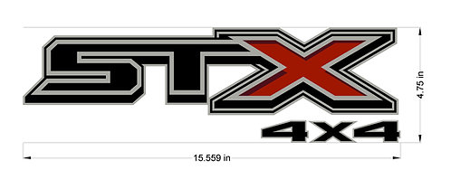 2020 Ford STX 4x4 Decal