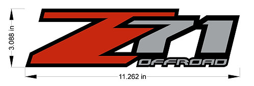 CHEVY SILVERADO Z71 OFFROAD STICKER DECAL GMC SIERRA 4x4