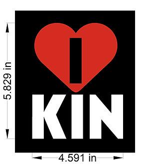 I love Kin Decals