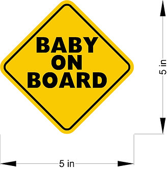 Baby on Board decal