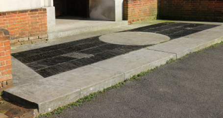 Photo of main steps at St Judes