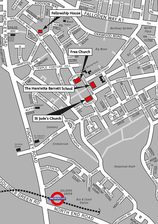Map of the Streets around St Judes