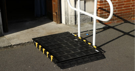 Photo of access ramps at side entrance of St Judes