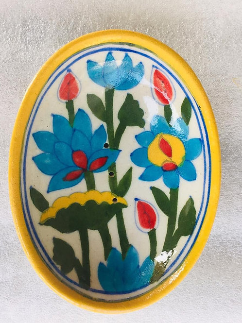 Traditional Handpainted Jaipur Soap Dish- Gypsy