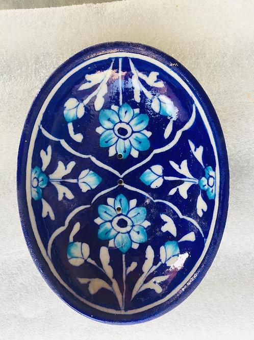 Traditional Jaipur, Cobalt Blue Soap Dish