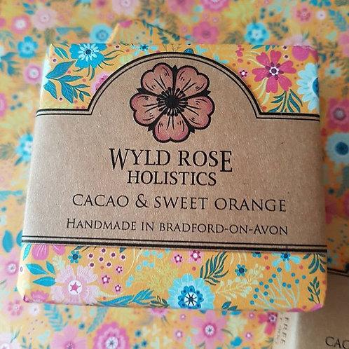 Handmade Artisan Soap - Raw Cacao and Sweet Orange