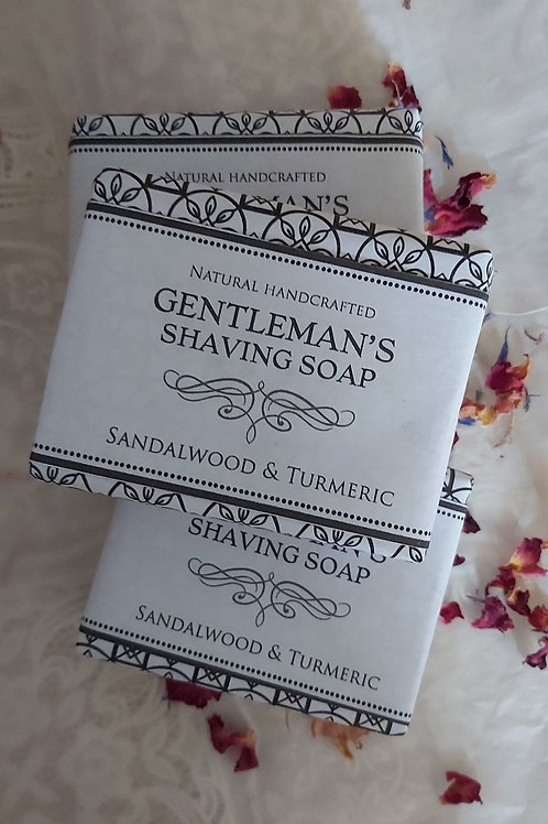 Gentleman's Shaving Soap- Sandalwood & Turmeric