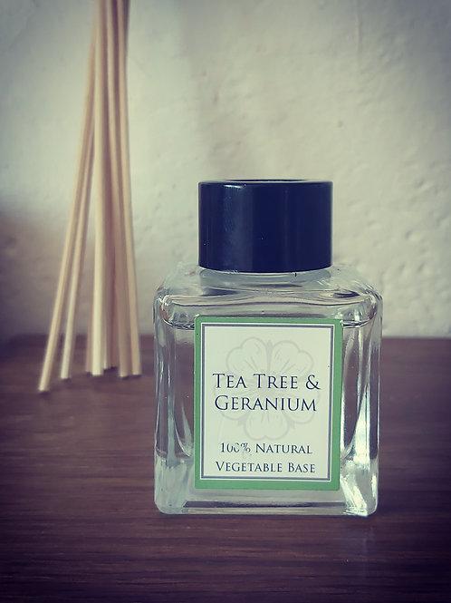 Tea Tree and Geranium Essential oil Diffuser -50ml