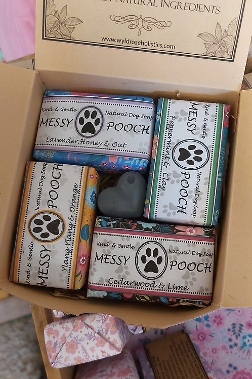 Dog Shampoo and Conditioner Gift Box- Messy Pooch 50g x 4 scents