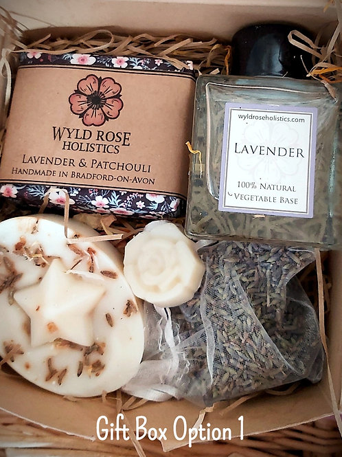 Luxury Bespoke Aromatherapy Gift Box- Sensual Lavender and Patchouli