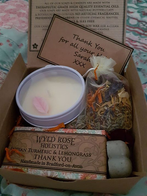 Uplifting 'Thank you' Rustic Gift Box-