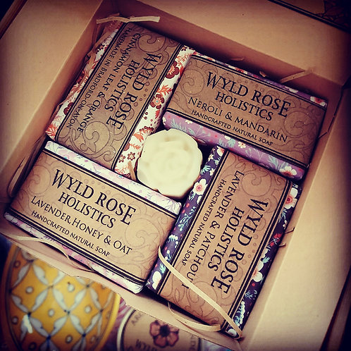 Bespoke Rustic Artisan Soap Gift Box- 50g x 4  scents