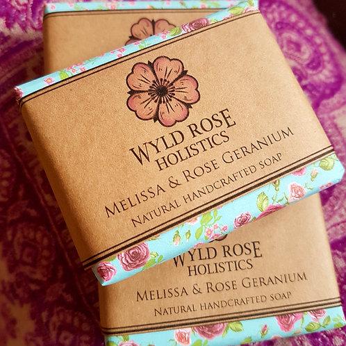 Artisan Handmade Soap-Melissa and Rose Geranium